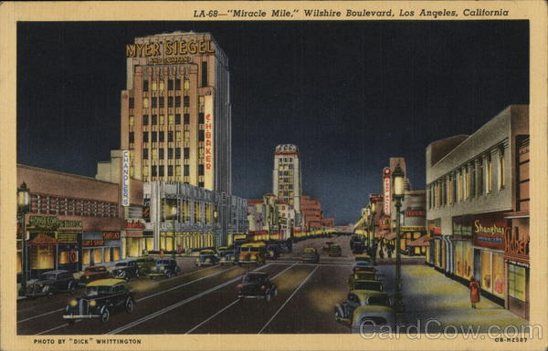Wilshire Boulevard - Miracle Mile Los Angeles California