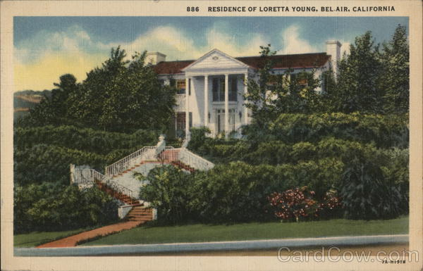 Residence of Loretta Young Bel Air California