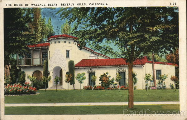 The Home of Wallace Beery Beverly Hills California