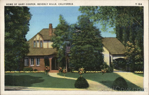 Home of Gary Cooper Beverly Hills California