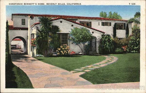 Constance Bennett's Home Beverly Hills California