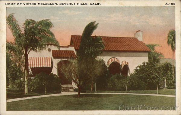 Home of Victor McLaglen Beverly Hills California