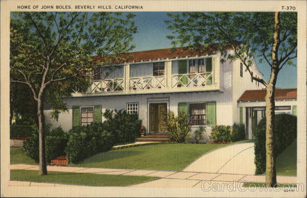 Home of John Boles Beverly Hills California