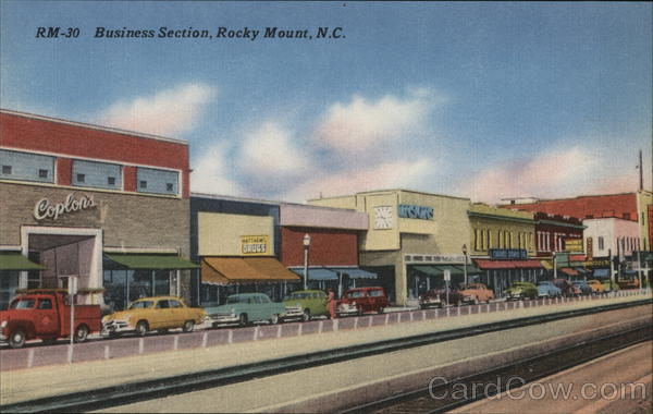 Business Section, Rocky Mount, N.C. North Carolina