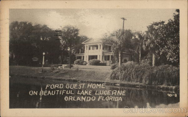 Ford Guest Home, Lake Lucerne Orlando Florida