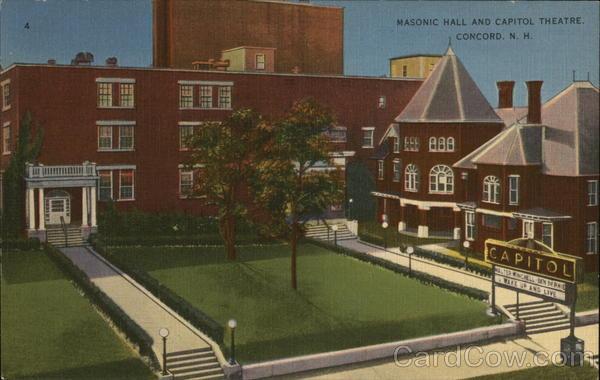 Masonic Hall and Capitol Theatre Concord New Hampshire