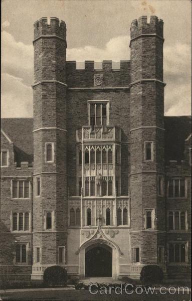 Duke University - Entrance to Medical School, Men's Campus Durham North Carolina