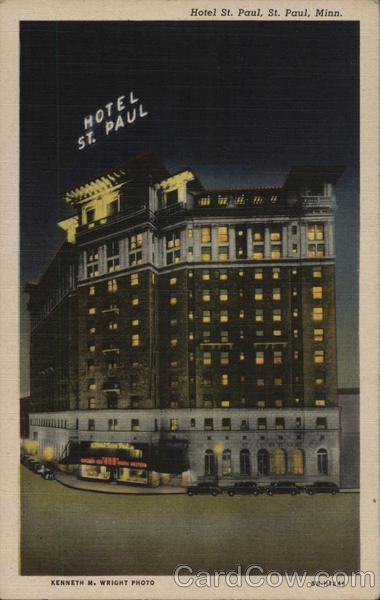 Hotel St. Paul Minnesota Kenneth M. Wright