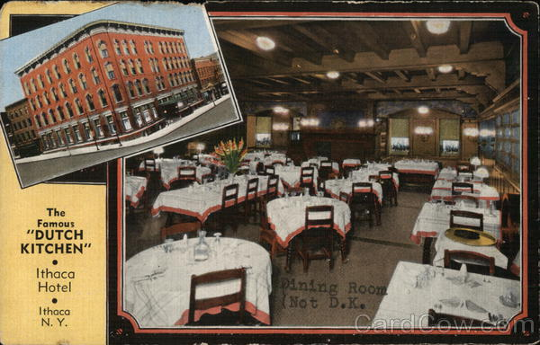 The Famous Dutch Kitchen with Inset of Ithaca Hotel New York