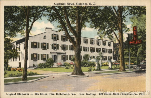 Colonial Hotel Florence South Carolina