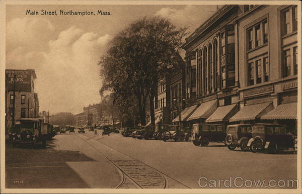 Main Street View Northampton Massachusetts