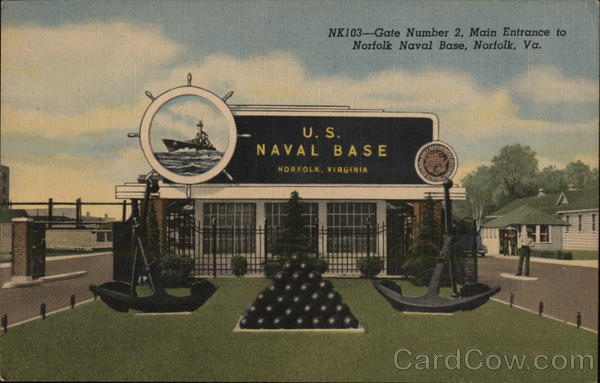 Norfolk Naval Base - Gate Number 2, Main Entrance Virginia