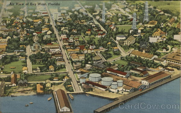 Air View of Key West, Florida