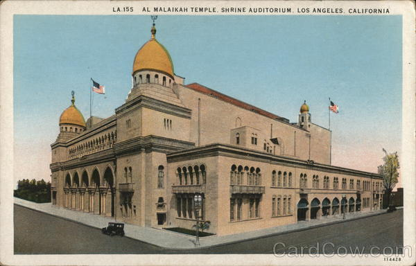Al Malaikah Temple - Shrine Auditorium Los Angeles California