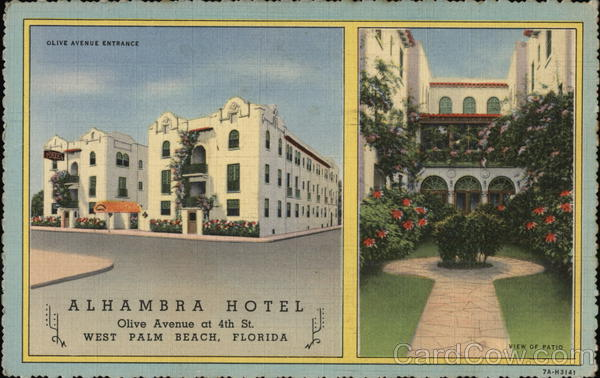 Alhambra Hotel West Palm Beach Florida