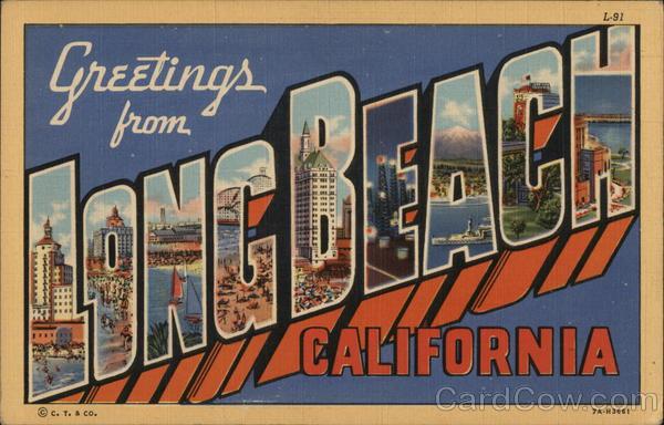 Greetings from long beach california postcard m4hsunfo