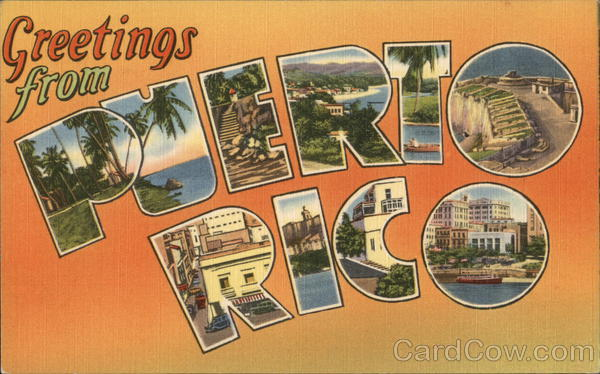 Greetings from puerto rico postcard m4hsunfo