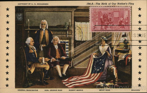 The Birth of our Nation's Flag Patriotic Maximum Cards