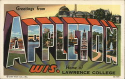 Greetings from the Home of Lawrence College Postcard