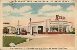 THe Forwood ESSO Servicenter Postcard