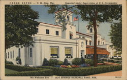 Ozark Baths - C. M. King, Mgr., Operated Under the Supervision of U. S. Government