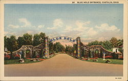 Blue Hole - Entrance Postcard