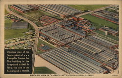 Bird's-Eye View of Caterpillar Factory