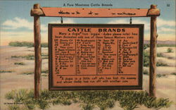 Montana Cattle Brands Sign