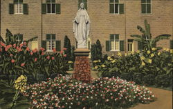 Our Lady of Gethsemani, Statue of Our Lady - Guests Garden