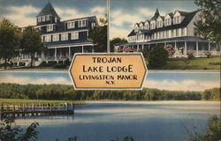 Trojan Lake Lodge Postcard