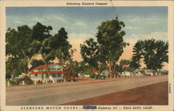 Adjoining Stanford Campus, Stanford Motor Court - Alternate Highway 101