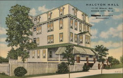 Halcyon Hall, 1116 Wesley Ave. Postcard