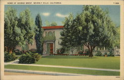 Home of George Brent Postcard