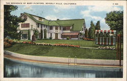 The Residence of Mary Pickford Postcard