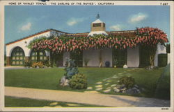 "Home of Shirley Temple "" The Darling of the Movies"", California Postcard"