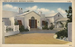 Home of Gary Cooper Postcard