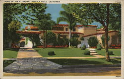 Home of Joe E Brown Postcard