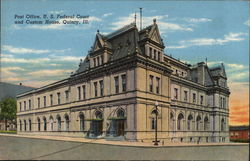 Post Office, U.S. Federal Court and Custom House Postcard