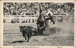 Vic Castro, Calf Roping, Hayward 1942