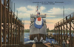 "Launching of U.S.S. ""Symbol"" Minesweeper"
