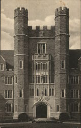 Duke University - Entrance to Medical School, Men's Campus Postcard