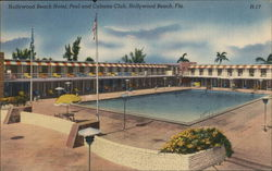Hollywood Beach Hotel, Pool and Cabana Club Postcard