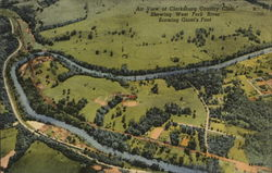 A View of Clarksburg Country Club, Showing West Fork River Forming Giant's Foot