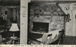 Interior Scene at Chippewa Lodge, Lake Kabetogama