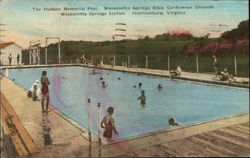 The Hudson Memorial Pool - Massanetta Springs Bible Conference Grounds Postcard