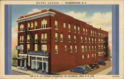 Hotel Louise - On U. S. 17, Ocean HIghway to Florida, and U. S. 264 Postcard