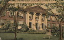 Administration Building at Southeastern State College Postcard