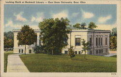 Looking North at Rockwell Library - Kent State University Postcard