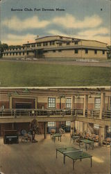 Service Club, Fort Devens Postcard