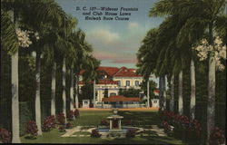 Hialeah Race Course - Widener Fountain and Club House Lawn